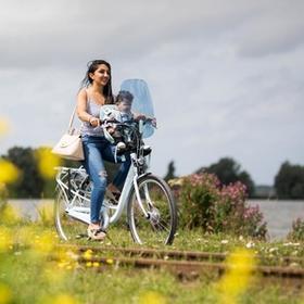 Met een elektrische moederfiets ben je sneller op je bestemming