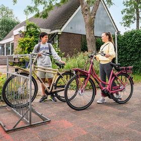 Robuust, kleurrijk frame voor comfortabele kilometers