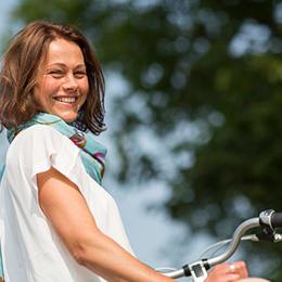Een elektrische moederfiets is gezond