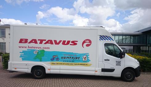 Batavus bus met HomeRide bestickering