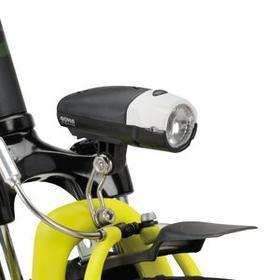 Met dubbele remmen en LED-verlichting